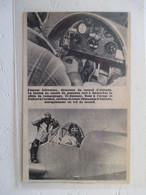Avionique   - Tableau De Bord D'un Planeur Schweizer   - Coupure De Presse De 1935 - GPS/Aviación