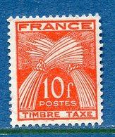 France - Taxe - YT N° 86 - Neuf Sans Gomme - 1946 à 1955 - 1859-1955 Neufs