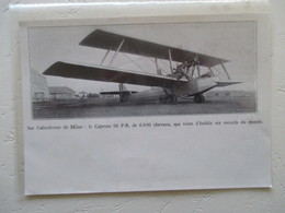Milano  - Caproni Bombardier 90 PB 6000 Cv  - Coupure De Presse De 1930 - Historical Documents