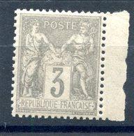 France N°87 Neuf** Bord De Feuille - TB - (F998) - 1876-1898 Sage (Type II)
