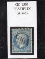 Aisne - N°22 (défx) Obl GC 1501 Festieux - 1862 Napoléon III