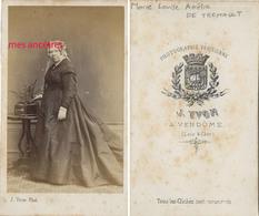 CDV Famille De MONTIGNY-Marie Laure Amélie DE TREMAULT épouse Nerestan GUIGNARD-photo Yvon à Vendôme - Anciennes (Av. 1900)