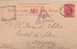 Malte  Entier Postal Censuré Pour L'Italie 1917 - Malta