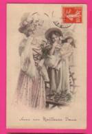 CPA (Réf: Z 2993) (JEUX ET JOUETS) POUPÉE Petite Fille Et Sa Poupée Beau Chapeau - Jeux Et Jouets