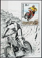 BELGIQUE Bloc 77 ** MNH Motocyclisme Motocross Dessin De CLOVIS 1999 Strip Cartoon Bd Comics - Blocks & Sheetlets 1962-....