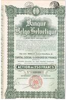 Titre Ancien - Banque Belgo Helvétique  - Société Anonyme - Titre De 1928  - - Banque & Assurance