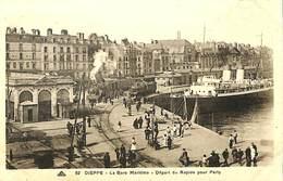 CPA - France - (76) Seine Maritime  - Dieppe - La Gare Maritime - Départ Du Rapide Pour Paris - Dieppe