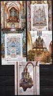 Poland 2015-2019  Set 5 Blocks MNH Historic Organs In Poland Organ Music Musical Instrument - Music