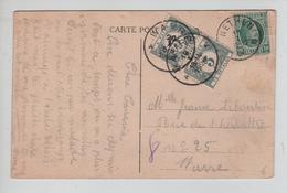 REF458/ TP 194 Albert Houyoux S/CP Fantaisie C.Relais Etoile Nethen 19/1/1926 > Wavre Taxée 10c Par TTx 32 (2) C.Wavre - Marcophilie