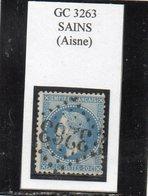 Aisne - N°29B Obl GC 3263 Sains - 1863-1870 Napoléon III Lauré