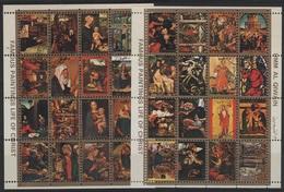 REL 81 - UM AL QIWAIN Série 32 Val. Obl. Mini-timbres Religion - Umm Al-Qiwain