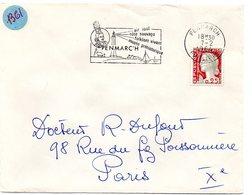 FINISTERE  - Dépt N° 29 = PENMARC'H 1964 = FLAMME Non Codée = SECAP Illustrée D'un PHARE + COIFFE BIGOUDEN - Marcophilie (Lettres)