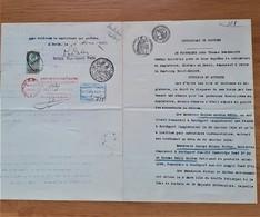 Timbres Fiscaux Fiscal Revenue Certificat De Coutume Pour Testament Avec Timbre Anglais - Fiscaux