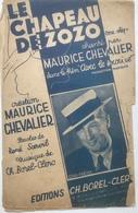 (157) Partituur - Partition - LE CHAPEAU DE ZOZO - Maurice Chevalier - Partituren