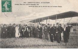 ARNAY-le-DUC (21). Aviation. Grandes Fêtes Des 14-15-16 Septembre 1912 Arrivée De Paris Par La Voie Des Airs De Deroye - Arnay Le Duc