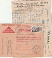 Carte Postale Remboursement CH 1418 D Avec Facture Entête E BOUJASSY Motos MONTPELLIER Hérault 27/11/1956 - 1921-1960: Modern Period