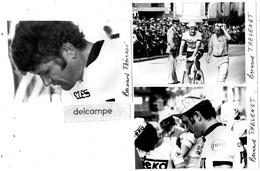 CYCLISME - 3 Photos  Authentiques  De Bernard  THEVENET -  Equipe  Cycles Peugeot - Michelin - Radsport