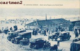 LACANAU-OCEAN COIN DE LA PLAGE VU DU ROND-POINT VOITURE AUTOMOBILE VEHICULE 33 - France