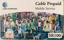 SEYCHELLES  -  Prepaid  - Cable § Wireless  - SR 100  (fine Numbers) - Seychellen