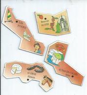 4 MAGNETS : NORD - LILLE / OISE - BEAUVAIS / ORNE - ALENCON / PAS-DE-CALAIS - ARRAS - Magnets