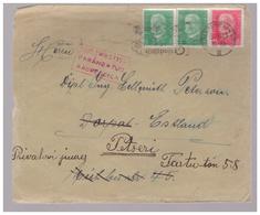 Cover Germany To Estonia,Luftpost,corrected Address - Estonie