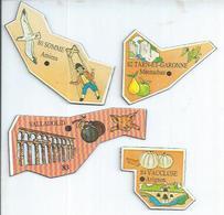 4 MAGNETS : SOMME - AMIENS / TARN-ET-GARONNE - MONTAUBAN / 83 - VALLADOLID / VAUCLUSE - AVIGNON - Magnets