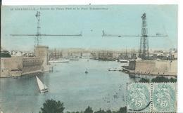 MARSEILLE (  BOUCHES DU RHONE )    ENTRÉE DU VIEUX PORT ET LE PONT TRANSBORDEUR - Alter Hafen (Vieux Port), Saint-Victor, Le Panier