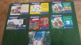 7 Telecarte Prépayée Voir Photos Recto Verso - France