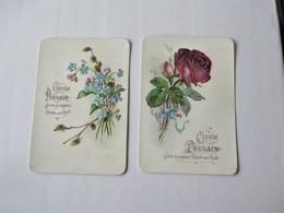 Chromo Gauffré_Chocolat POULAIN__ Bloc De 2_Bouquet De ROSES & Bouquet De MYOSOTIS - Poulain