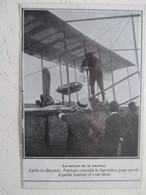Avionique Précurseur Non Localisé  - Henri FARMAN Consulte Son Baromètre  - Coupure De Presse De 1909 - GPS/Radios