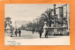 Barcelona Spain 1900 Postcard Hauser Y Menet - Barcelona