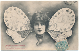 PAPILLON - Papillons Parisiens, Visage De Femme - Bergeret, Surréalisme - Papillons
