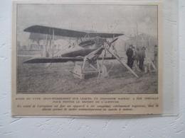 BETHENY - Sté De Production Des Aéroplanes Deperdussin - Moteur Lanceur  à Air Comprimé SPAD -Coupure De Presse De 1920 - GPS/Radios