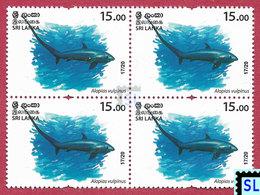 Sri Lanka Stamps 2020, Wild Species Threatened, Fish, Sharks, Shark, Marine, MNH - Sri Lanka (Ceylon) (1948-...)