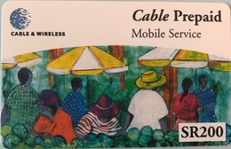 SEYCHELLES  -  Prepaid  - Cable § Wireless  - SR 200 (fine Numbers) - Seychellen
