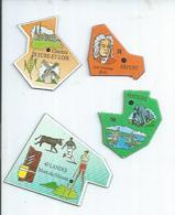 4 MAGNETS : EURE-ET-LOIR - CHARTRES / 31 - ERFURT / LANDES - MONT-DE-MARSAN / POITIERS - Magnetos