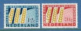 Pays Bas - YT N° 767 Et 768 - Neuf Sans Charnière - 1963 - Ongebruikt