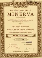 MINERVA Société Nouvelle - Automobile