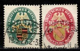 DR+ Deutsches Reich 1926 Mi 398-99 Wappen - Alemania