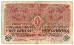 1 CORONA OCCUPAZIONE DANNUNZIANA FIUME SOVRASTAMPA I TIPO 01/12/1916 MB/BB - [ 6] Colonies