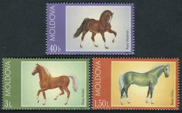 Moldavia 2002  - ** / MNH -   Correo Yvert Nº  380/382 Caballos ( 3 Val.) - Moldavie