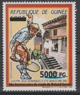 Guinée Guinea 2008 Mi. 6299 Surchargé Overprint Olympic Games Barcelona 1992 Jeux Olympiques Roland Garros Tennis - Summer 1992: Barcelona