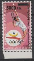 Guinée Guinea 2008 Mi. 6300 Surchargé Overprint Olympic Games Barcelona 1992 Jeux Olympiques Roland Garros Tennis - Summer 1992: Barcelona