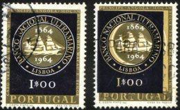 PORTUGAL, 1964, ULTRAMARINE NAT. BANK, BLUE COLOR VERY DECENTRED, CE#928, O, ERROR - Variétés Et Curiosités