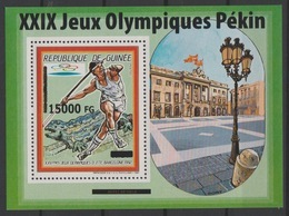 Guinée Guinea 2008 Mi. Bl. 1638 Surchargé Overprint Olympic Games Barcelona 1992 Beijing Pekin Jeux Olympiques 2008 - Summer 1992: Barcelona
