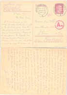 POST CARD. GERMANY. STATIONERY HITLER 15.Pf. LEUBSDORF 1944 TO FRANCE. CENSOR - Briefmarken