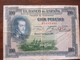 100 PESETAS 01/07/1925 - 100 Pesetas