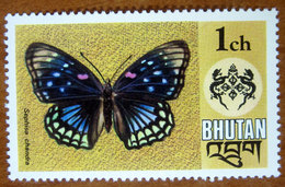 1975 BHUTAN  Fauna Farfalla Butterfly - Bamboo Forester Eastern Courtier (Sephisa Chandra) - Nuovo - Bhutan