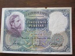 50 PESETAS 25/04/1931 - 50 Pesetas