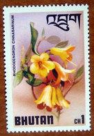 1976 BHUTAN   Rododendri Fiori Flowers Rhododendron Cinnabarinum - Nuovo - Bhutan